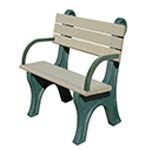 Central Park Backed Bench - 4ft with Arms
