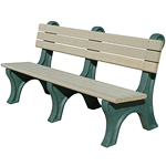 Central Park Backed Bench - 6ft without Arms