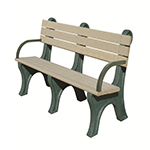 Central Park Backed Bench - 6ft with Arms