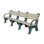 Central Park Backed Bench - 8ft with Arms