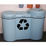 Mobius Recycle Pod Receptacle - 3 compartment