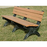Sheffield Backed Bench - 6ft without Arms