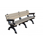 Sheffield Backed Bench - 6ft with Arms