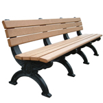 Sheffield Backed Bench - 8ft without Arms