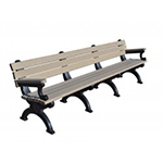 Sheffield Backed Bench - 8ft with Arms