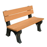 Classic Backed Bench - 4ft without Arms