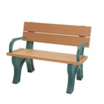 Classic Backed Bench - 4ft with Arms