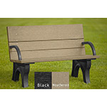 Classic ADA Compliant Bench - 4ft with Arms