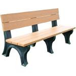 Classic Backed Bench - 6ft without Arms