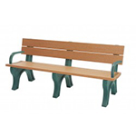 Classic Backed Bench - 6ft with Arms