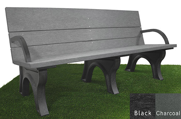 Classic ADA Compliant Bench - 6ft with Arms