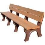 Classic Backed Bench - 8ft without Arms