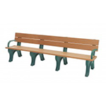 Classic Backed Bench - 8ft with Arms