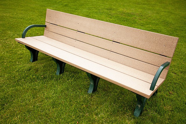 Classic ADA Compliant Bench - 8ft with Arms
