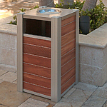 Eco Mod Trash Receptacle with Pass-Through Top
