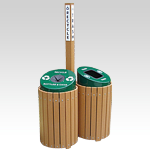 Envirodesign Recycling Center with Two (2) x 25 gallon Receptacles and Center Post