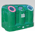 Profile 3 Compartment Recycling Container